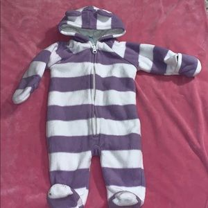 Snow suit /winter suit 3-6 months purple white